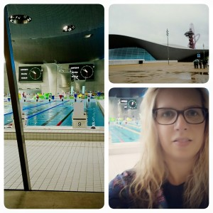 Yesterday I had one of my final training session at the Olympic Aquatics Centre in London